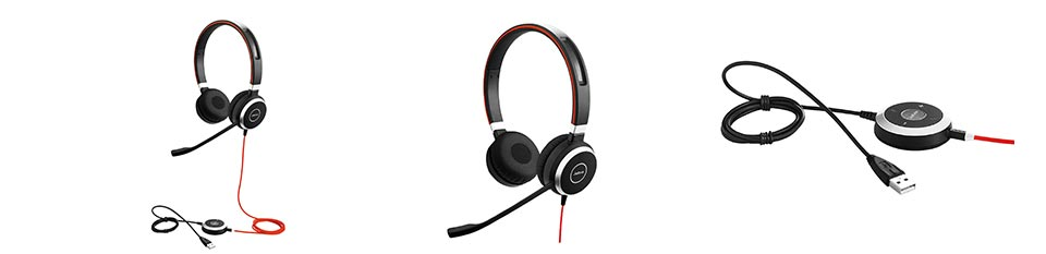 Jabra Evolve 40 UC Stereo Office Headset