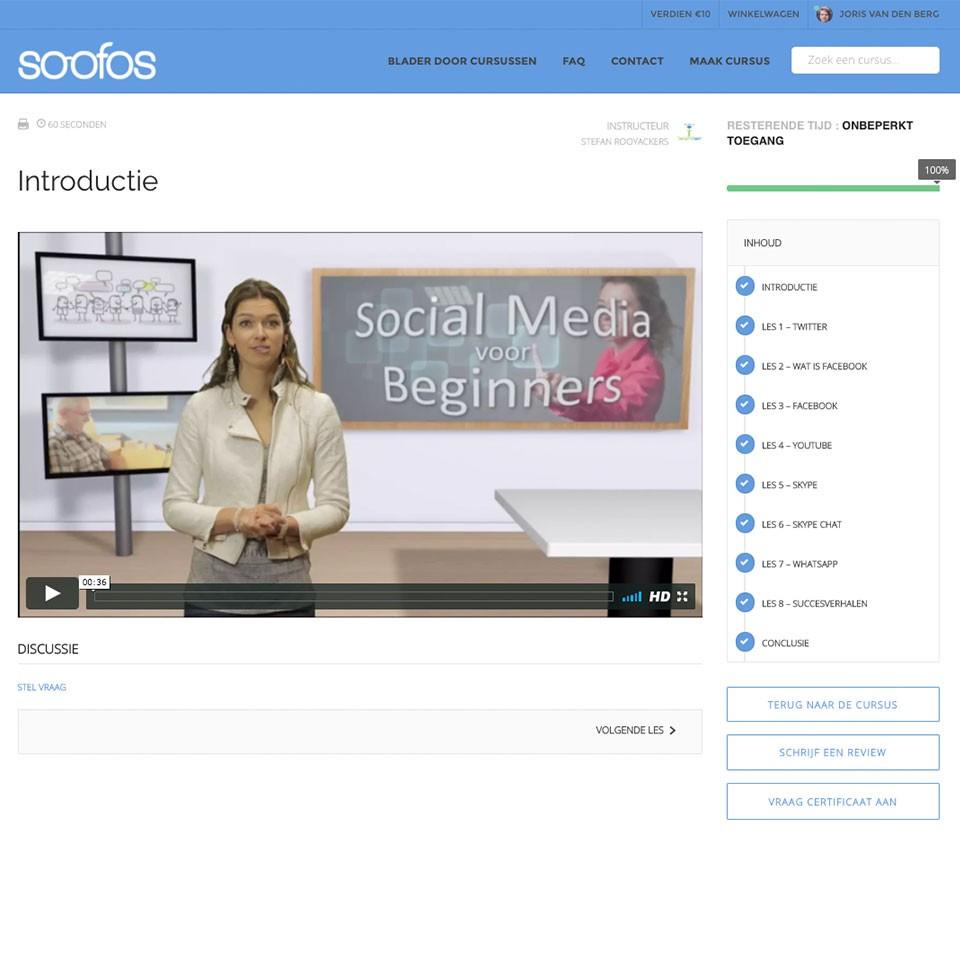 Soofos Online cursus Social Media voor beginners (Software)