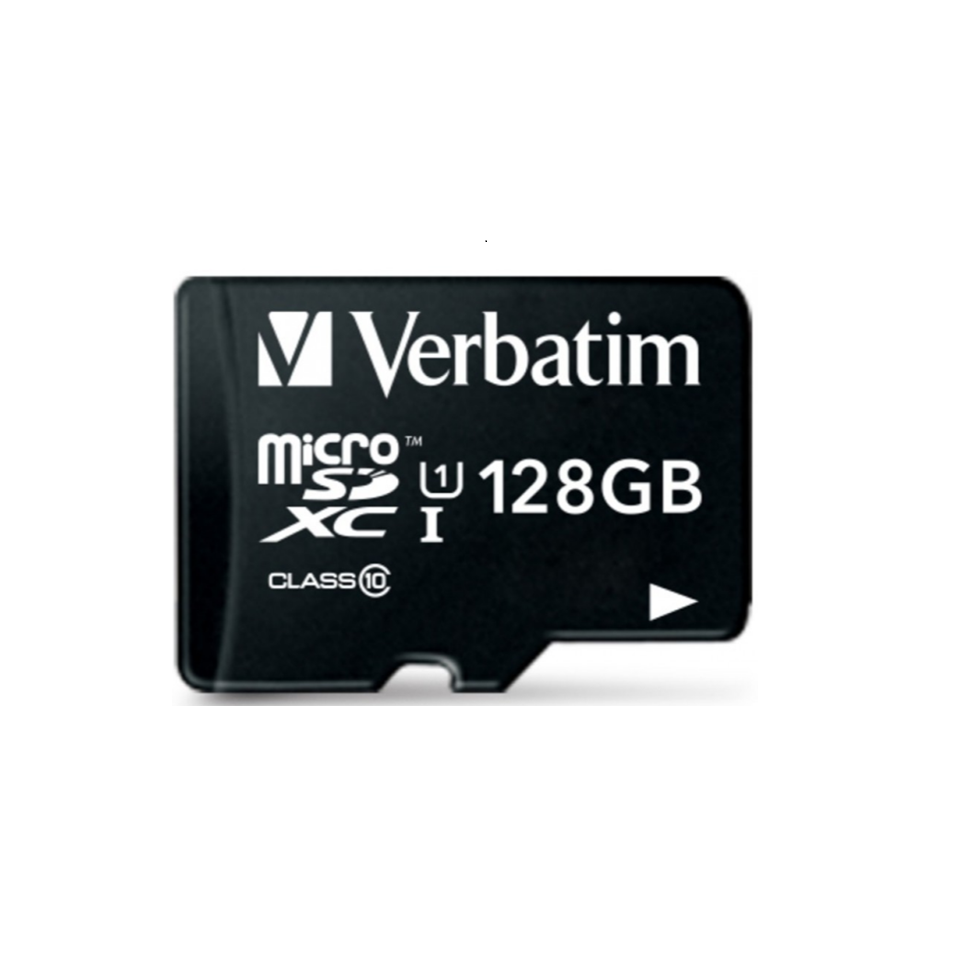 Verbatim Micro-SDHC 128GB CL10 + Adapter