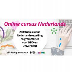 Braint online cursus Nederlandse spelling en grammatica