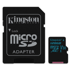 Kingston Canvas Go 128 GB MicroSDXC - Class 10 | SURFspot
