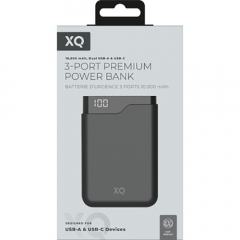 Xqisit Premium Powerbank 10.000 mAh Zwart